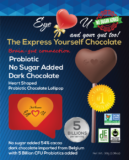 Sugar Free Probiotics Dark Chocolate Heart