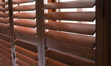 Shutters Stained Basswood