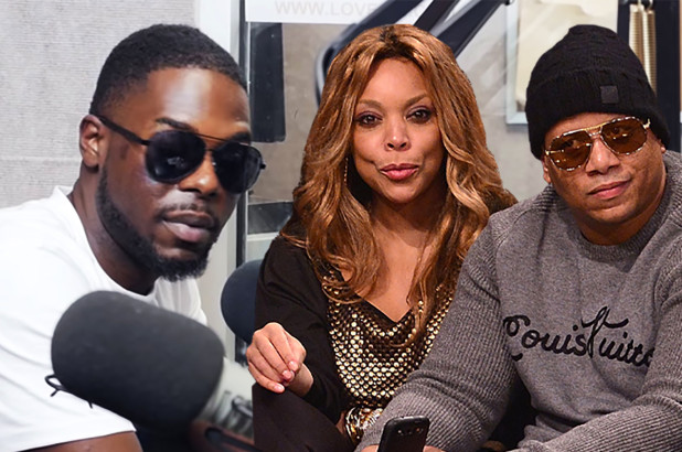 Aveon Falstar, Wendy Williams and Kevin Hunter Composite: YouTube; Getty