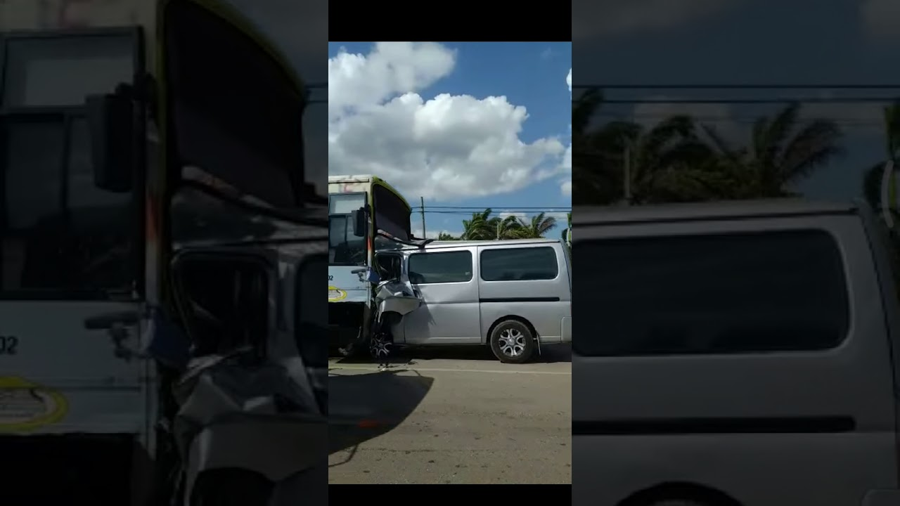 Mini bus crashes into JUTC bus