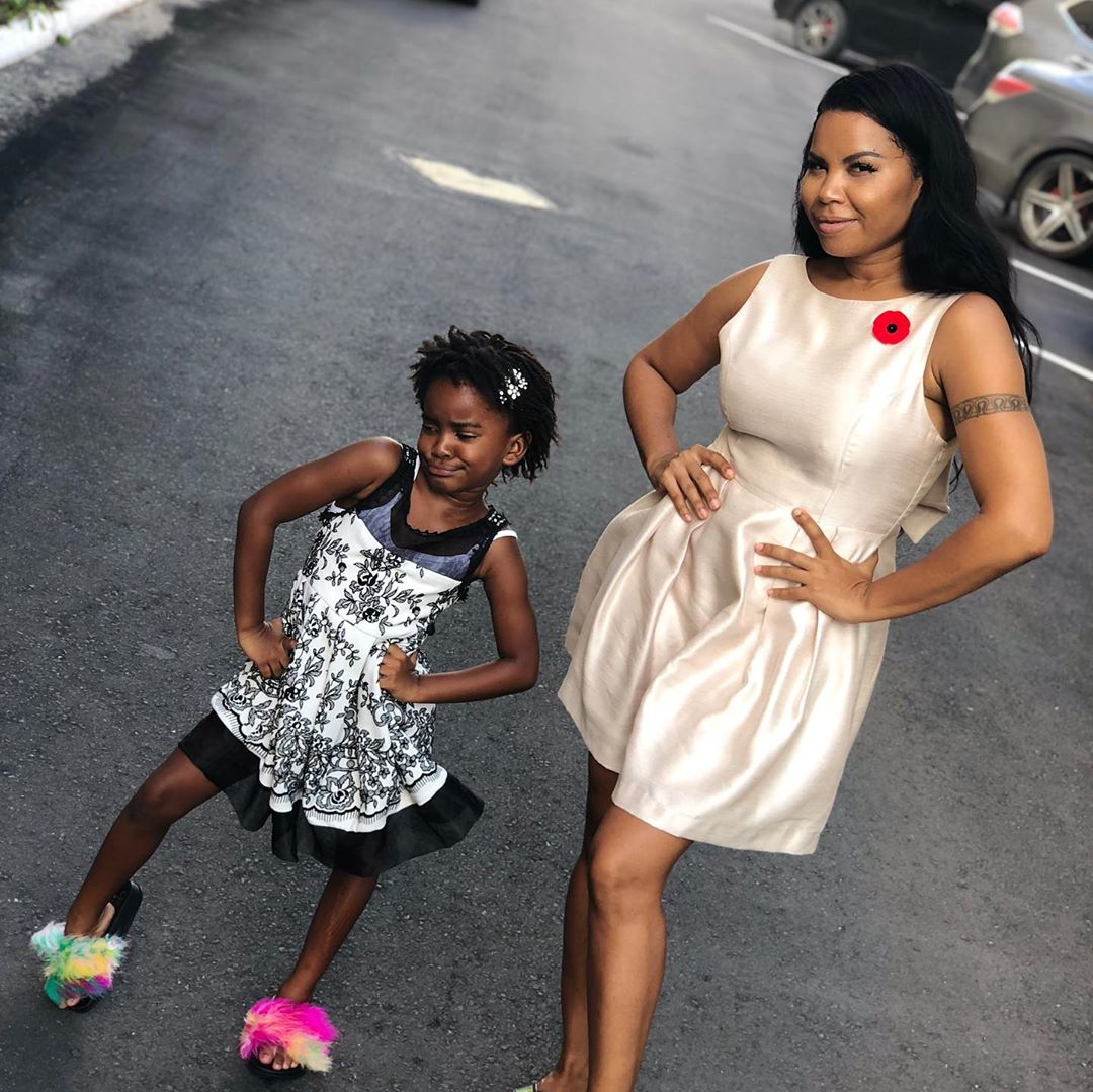 Cecile Poses with her daughter Nana.