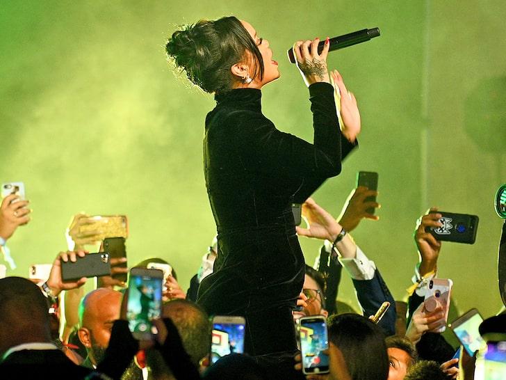 Rihanna at the Annual, Diamond Ball.
