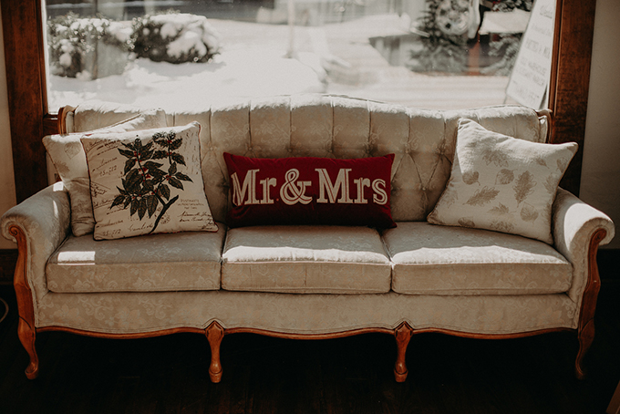 Moody & Romantic Vintage Industrial Christmas Wedding, Featured on Glamour and Grace, Christmastime Wedding, Holiday Wedding Inspiration, Red and Green Wedding, North Georgia Christmas Wedding, Moody Wedding, The Corner District