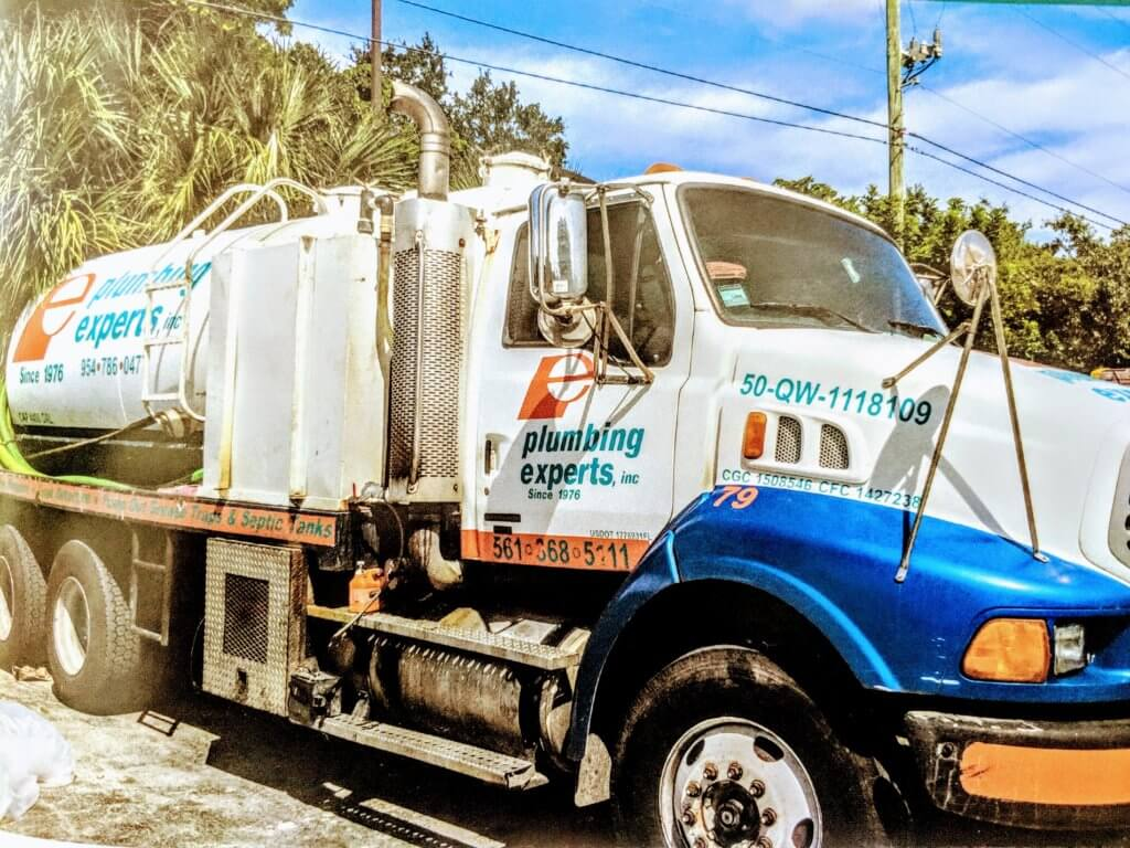 septic pump out truck Palm Beach country