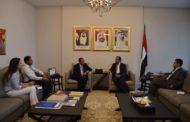 الشامسي يعرض والزيود خطط دعم النازحين والمجتمع اللبناني المضيف