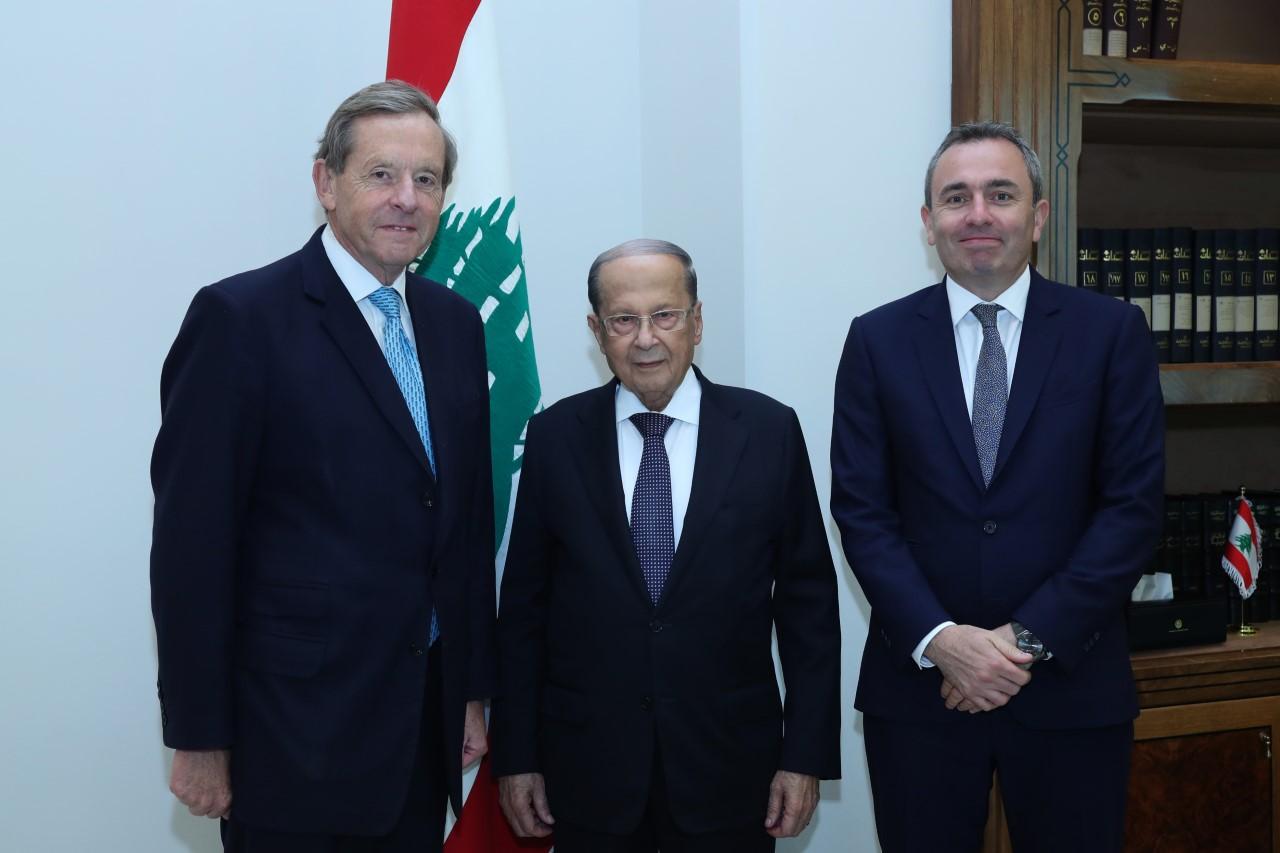 المبعوث التجاري اللورد ريسبي: آمل اجتذاب رجال الاعمال البريطانيين للاستثمار في لبنان