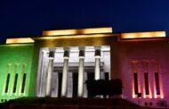 بعد اضاءة المتحف الوطني في بيروت وبرج الساعة في صور بألوان العلم الايطالي ...شكر من السفارة الايطالية