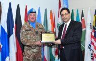 دياب لقائد اليونيفيل: لبنان متمسّك بتطبيق القرار 1701 وبدور قوات الأمم المتحدة والمحافظة على وكالتها وعديدها دون أي تعديل