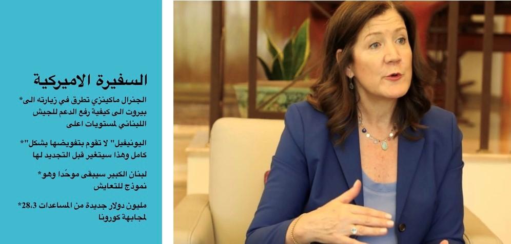 السفيرة الاميركية في لبنان دوروثي شيا