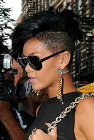The Diamonds singer sets another trail blazing trend, shaving the sides of her head