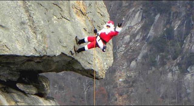 Santa on Chimney