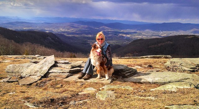 Lisa and Gunner on Bearwallow Mountain