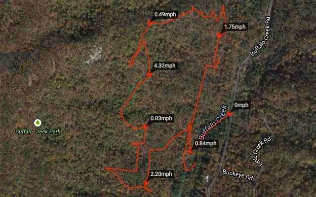 Buffalo Creek Park GPS Tracker Map