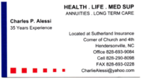 Health Insurance Agent – Charlie Alessi