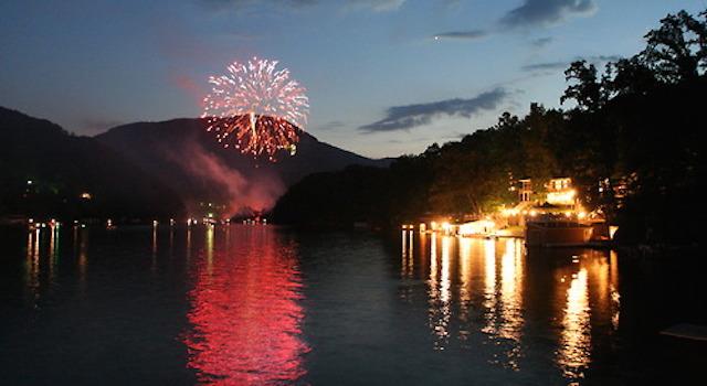Fireworks Lake Lure NC