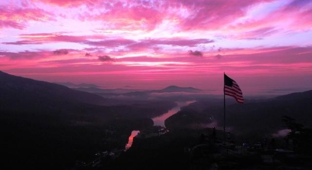 Red Sunrise Chimney Rock