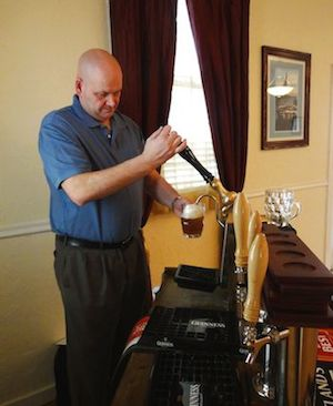 Mark Fretwell Sampling His Craft Ales