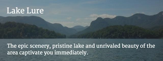 Lake Lure North Carolina