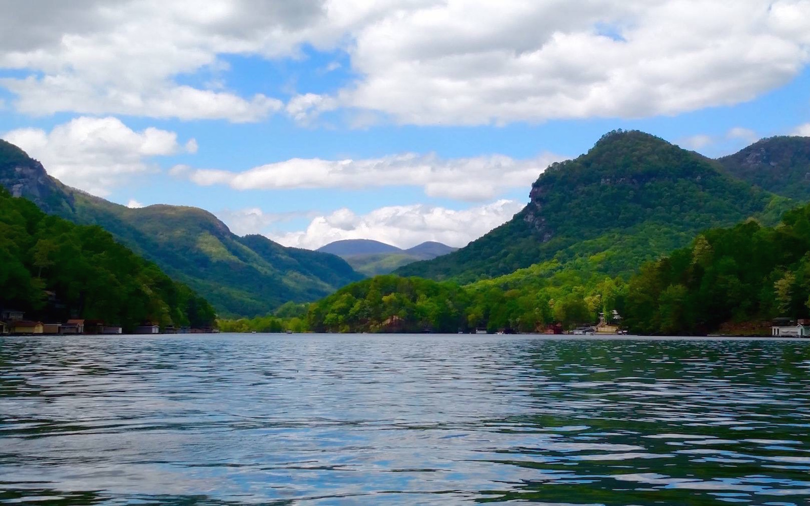Lake Lure, NC and Hickory Nut Gorge in Summer