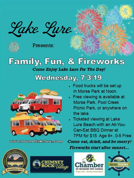 Lake Lure Fireworks 2019