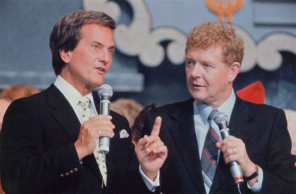 Pat Boone, Red Robinson at Timmy's Telethon in Vancouver, 1989