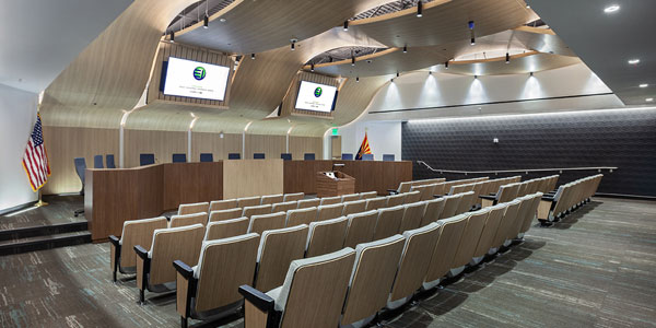ExhibitOne Sets City Council Chambers into Motion