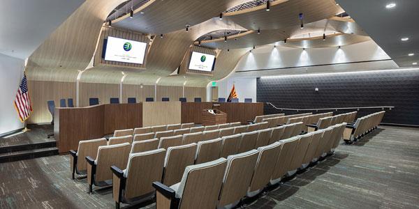 ExhibitOne Sets City Council Chambers into Motion