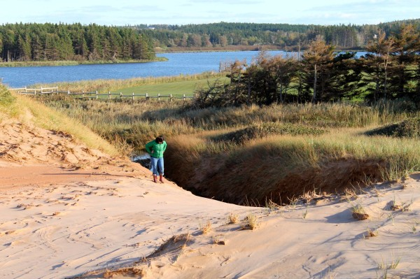 Exploring PEI a few years ago.