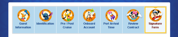 Online Check In Disney Cruise
