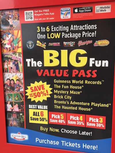 The Big Fun Value Pass, Niagara Falls- Don't Buy This One