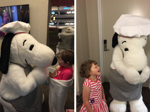Snoopy at Cedar Point Hotel Breakers