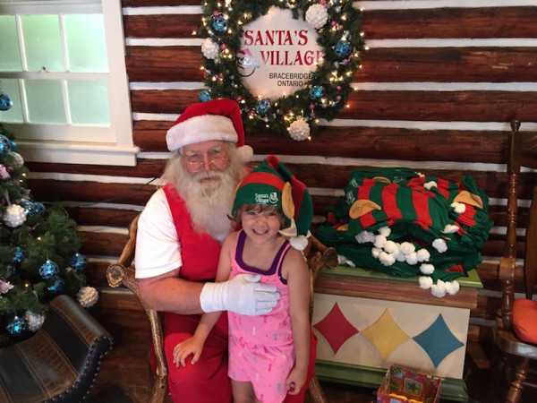 Meeting Santa at Santa's Village in Ontario