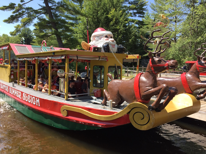 The Christmas Themed Jet Boat at Santa's Village