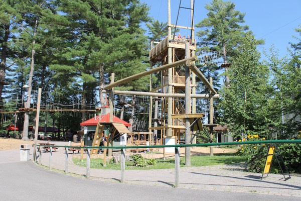 Ropes Course At Santa's Village Ontario