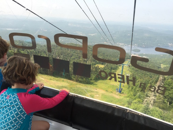 A summer Gondola ride at Mont Tremblant Quebec
