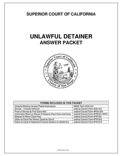 Unlawful Detainer California Eviction Delay