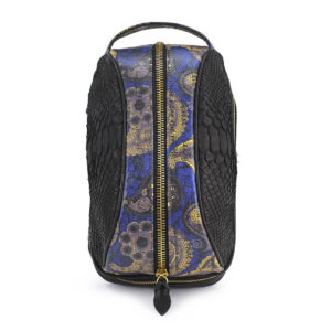 Amenity Black Python Paisley Leather Black Embossed Leather