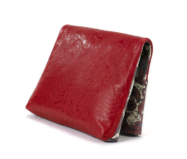 Foldover clutch red Enlightenment 3