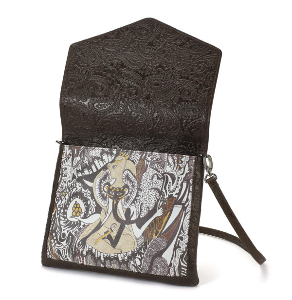 cross body brown ganesh 2