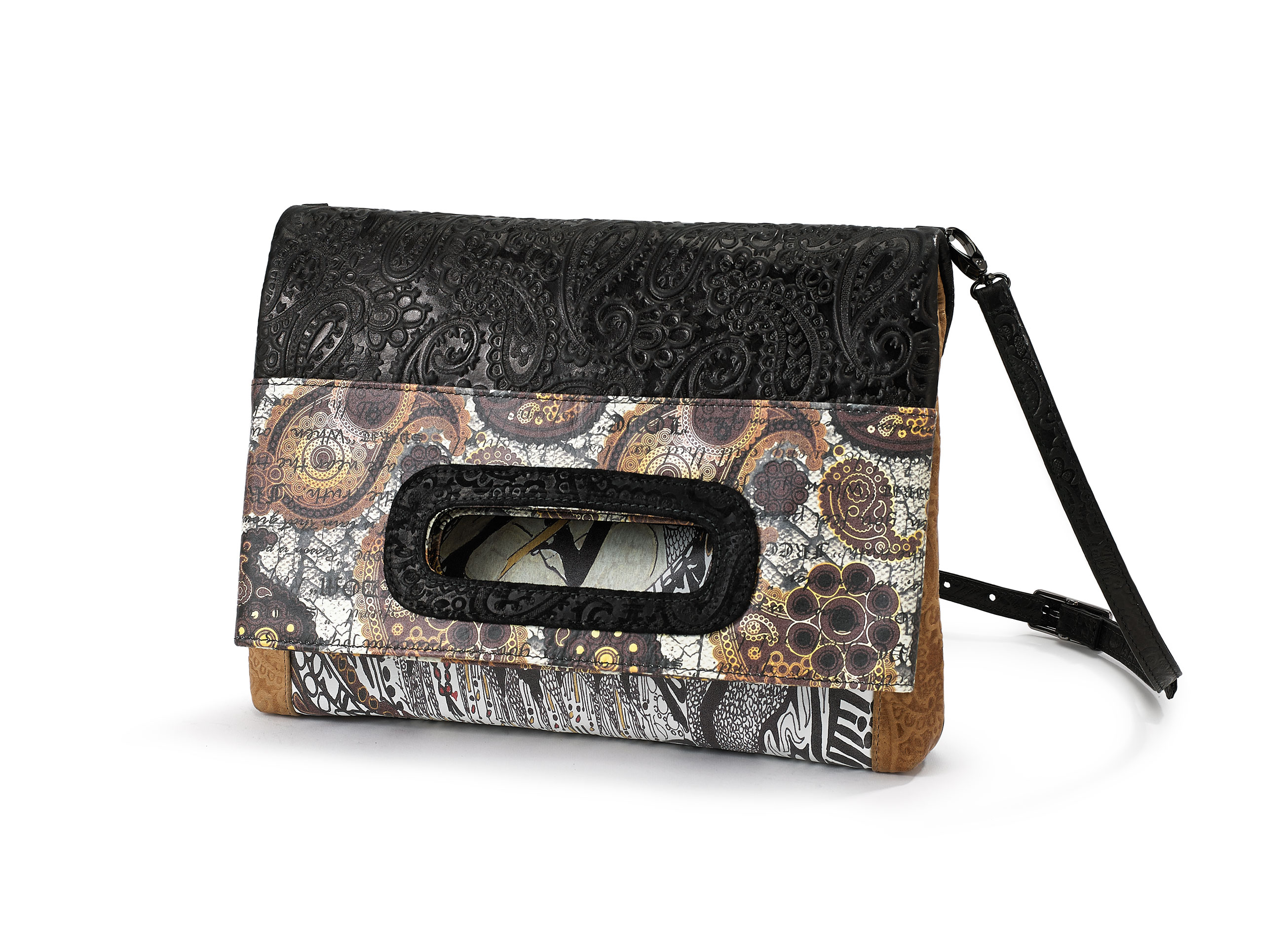 Fold-Over-Clutch-GaneshBLK-1