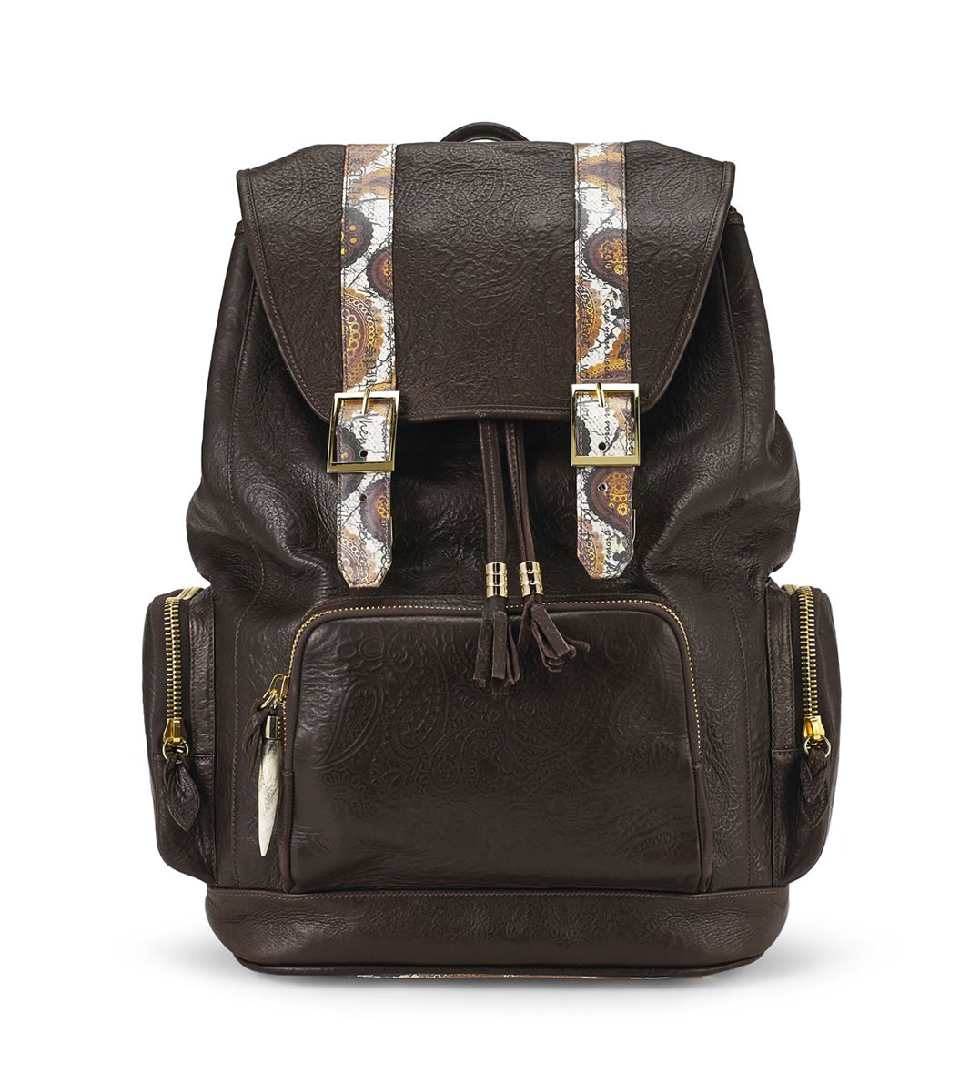 Sports BACKPACK fingerprint-brown