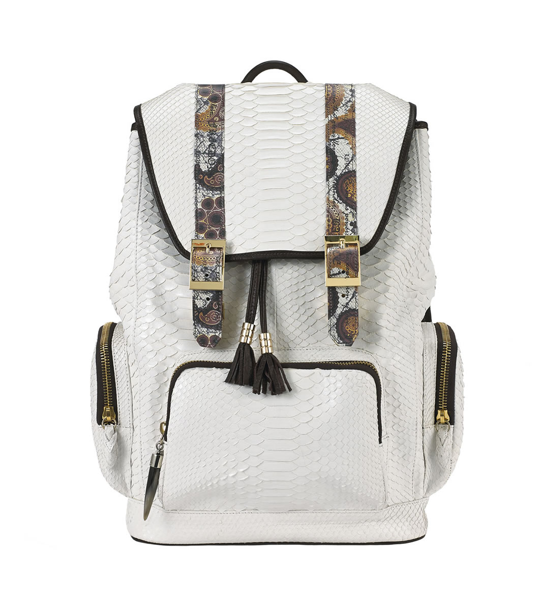 BACKPACK fingerprint-white-python-backpack