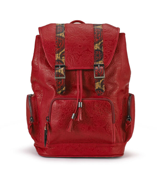 BACKPACK red REBIRTH BACKPACK fingerprint-red-python