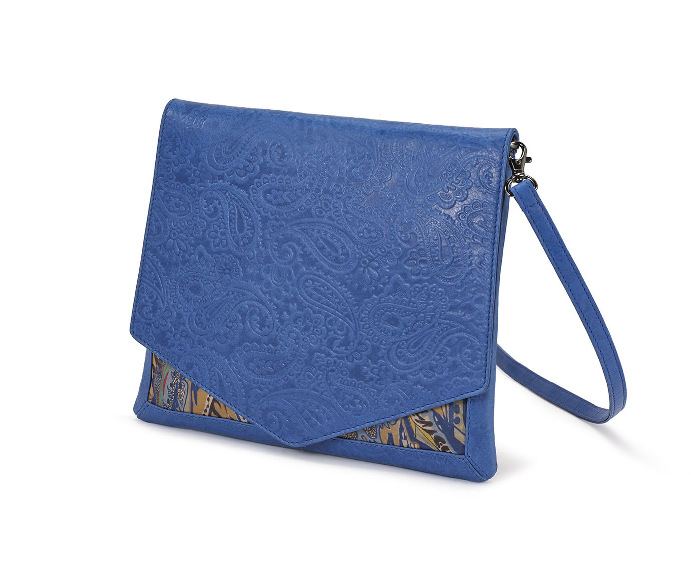 CROSSBODY BLUE EMBOSSED MIRACLES 1