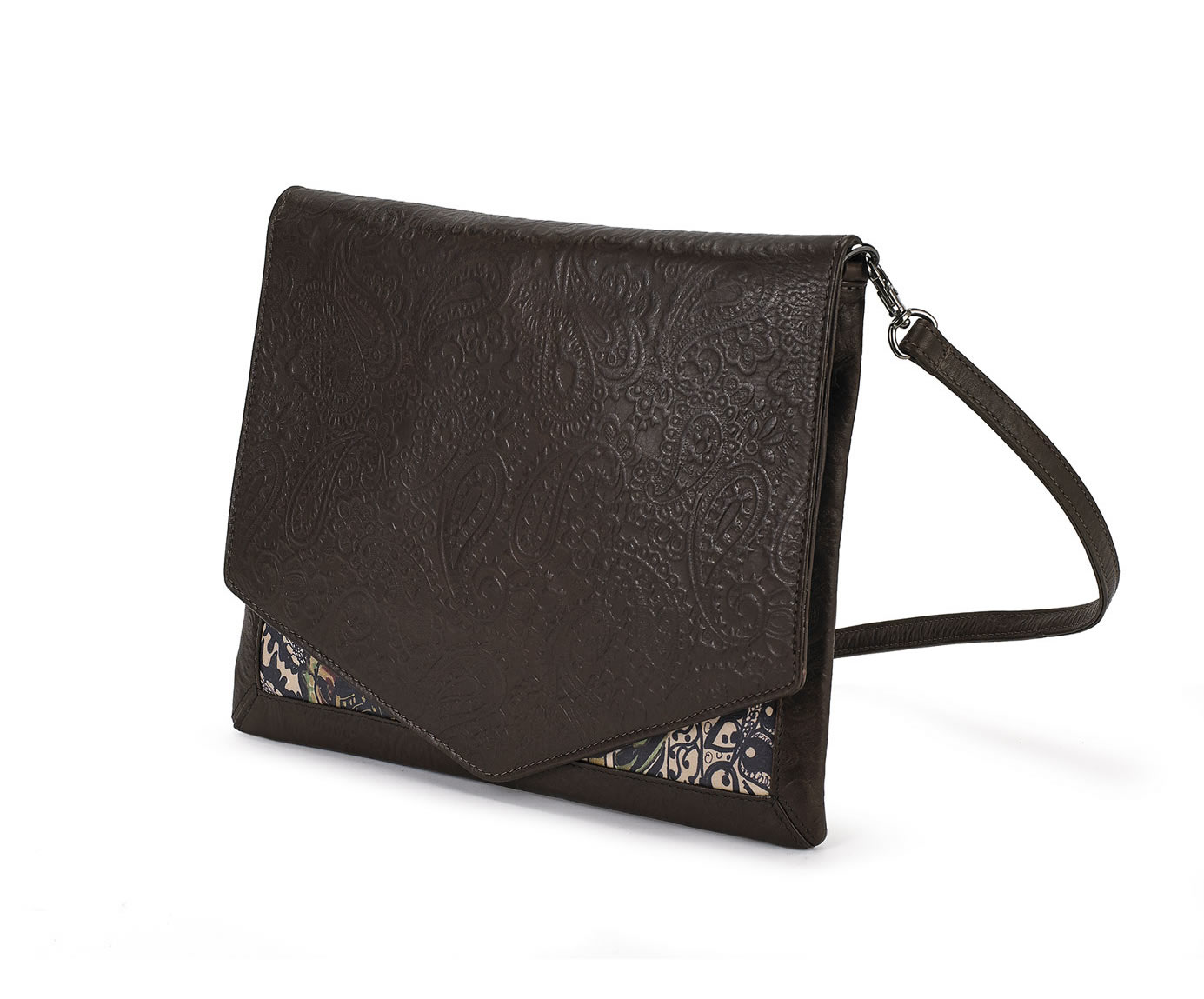 CROSSBODY BROWN EMBOSSED SERENITY 1
