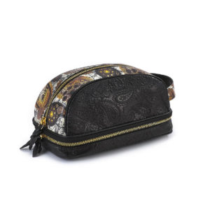 Amenity Black/Golden Brown Paisley Leather