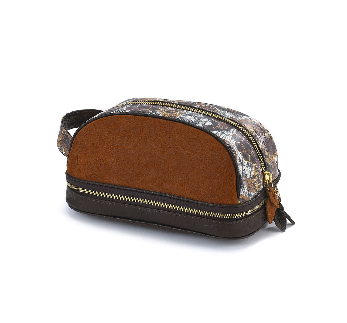 DOPP KIT GOLDEN BROWN EMBOSSED bag