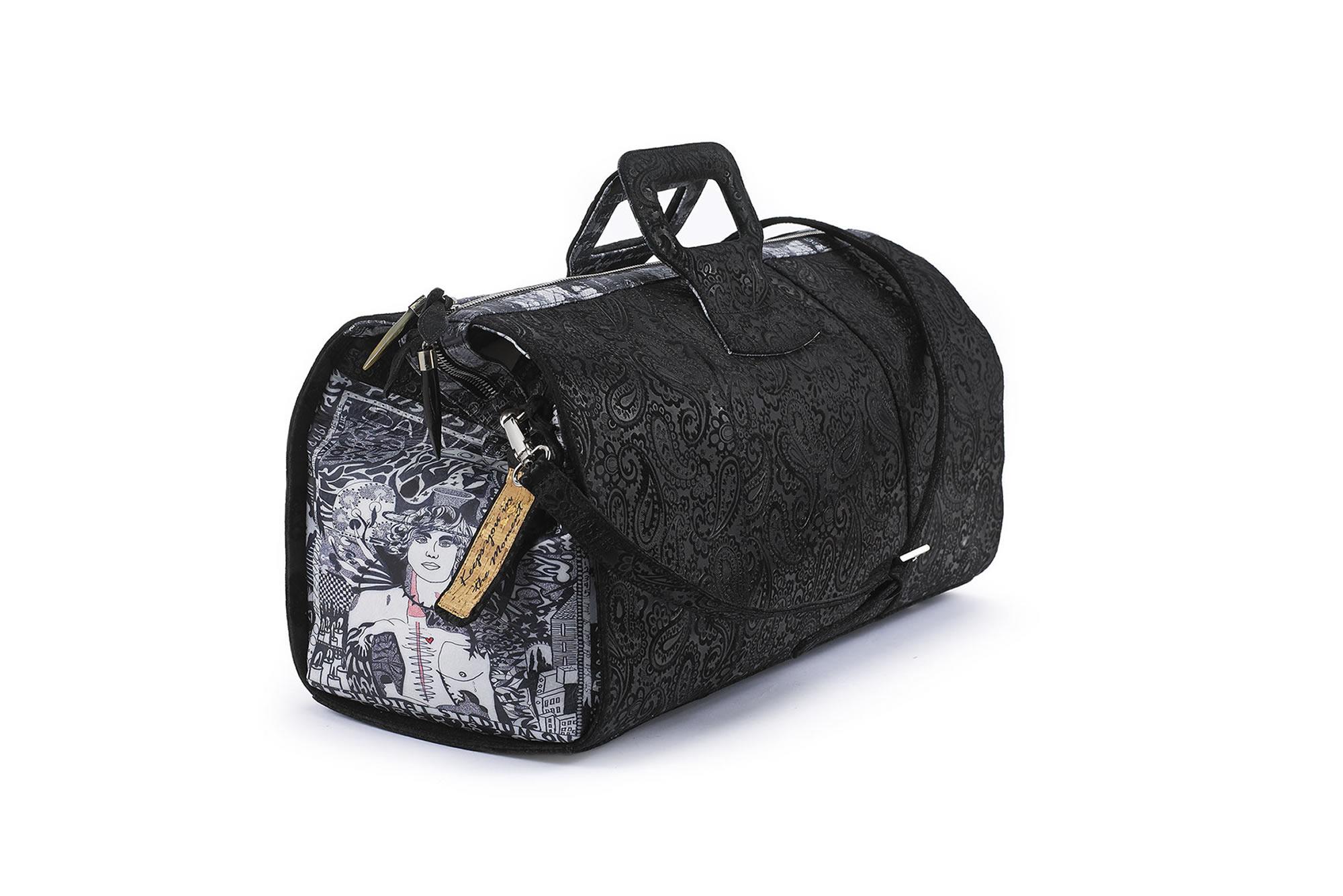 best Fingerprint of Soul Tan Leather duffel hand bag