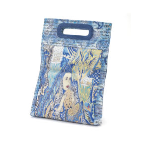 Miracles Blue Embossed Paisley