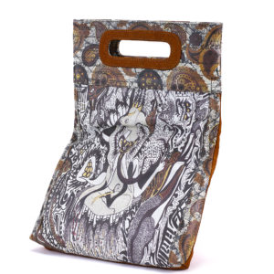 Ganesh Golden Brown Embossed Suede